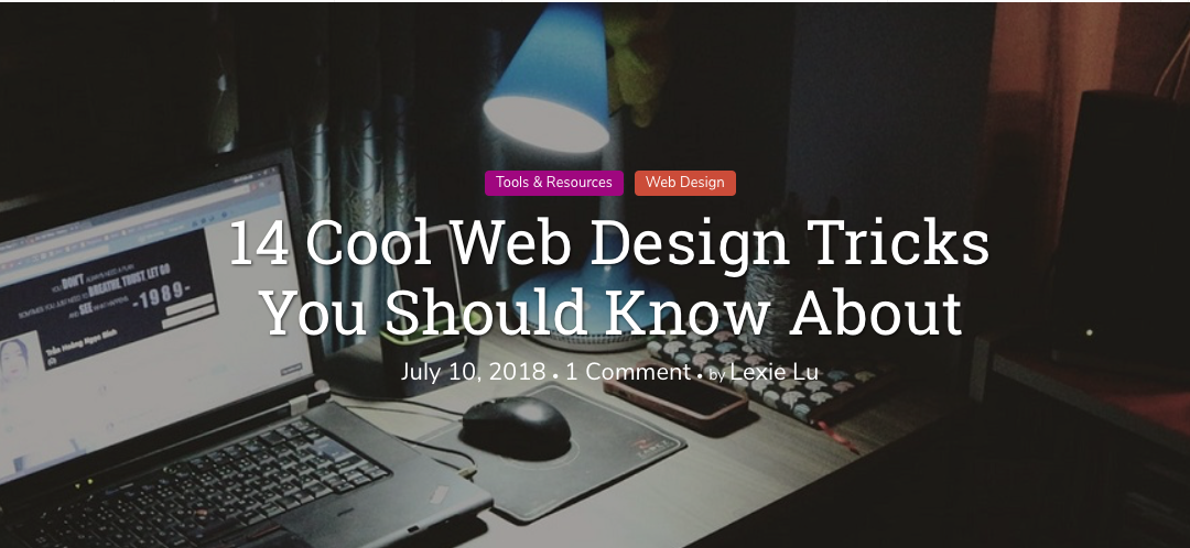 14 Cool Web Design Tricks You Should Know About